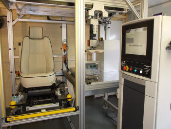 Off Line force application machine (FAM) used for the calibration of Delphi PODS B seats for VW Group