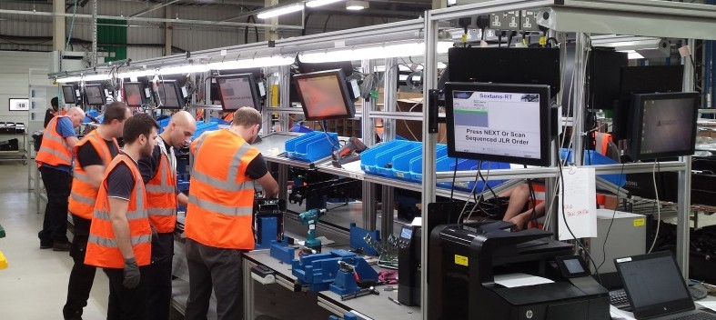 Guided assembly process control - Console LIne