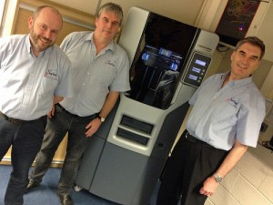 We've invested in a 3D printer for the direct benefit of our customers