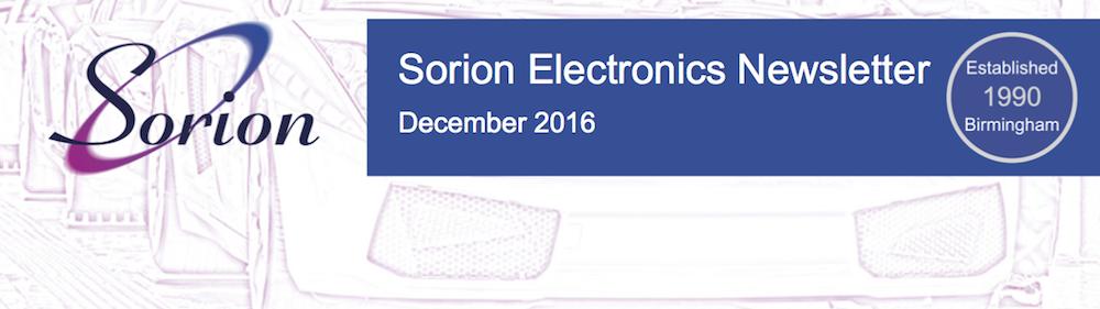 Sorion Electronics December Newsletter