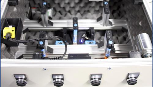 test fixture for automotive air distribution unit