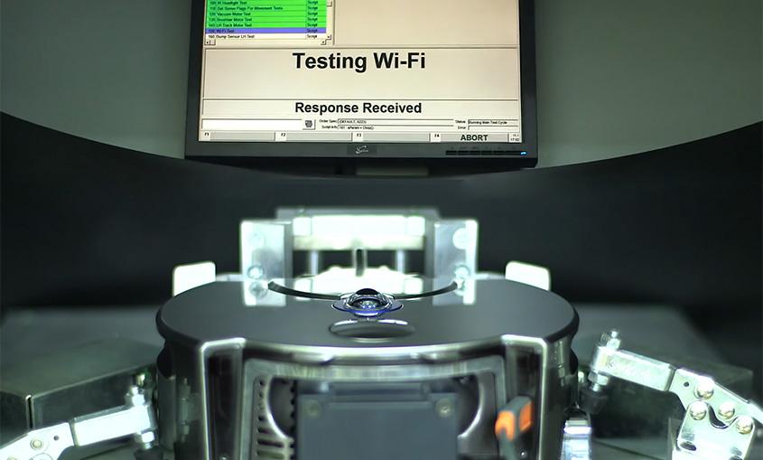 Test equipment robotic vacuum cleaner