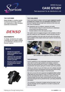 Denso air distribution unit test system