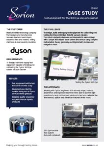 Dyson robotic vacuum cleaner testing and calibration
