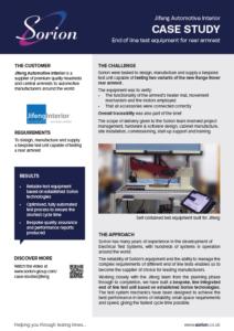 Jifeng case study - End of line test system, automotive armrest
