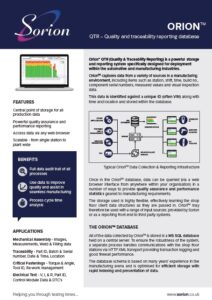 Manufacturing traceability reporting
