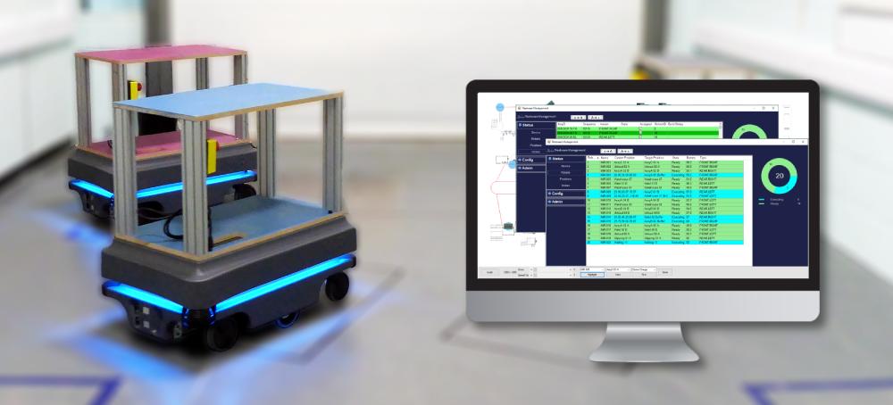 Fleet management software for Autonomous Mobile Robots